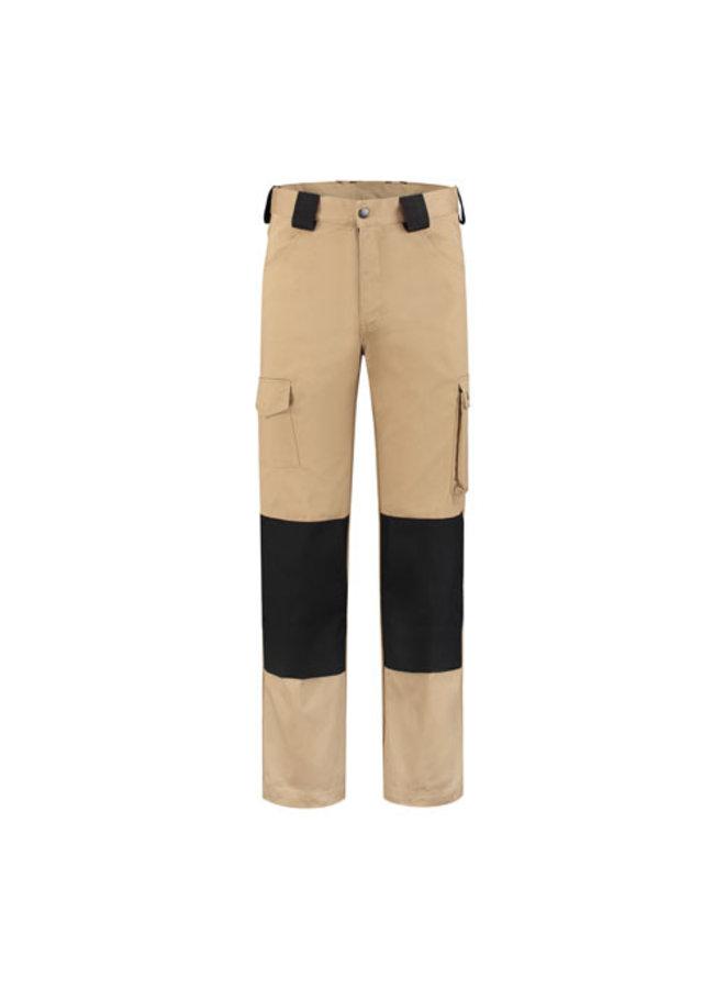 Worker, work pants cotton-polyester khaki-black