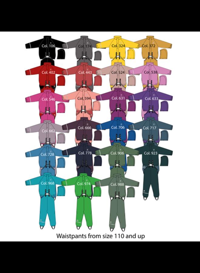 Children's rainsuit: loose pants and jacket