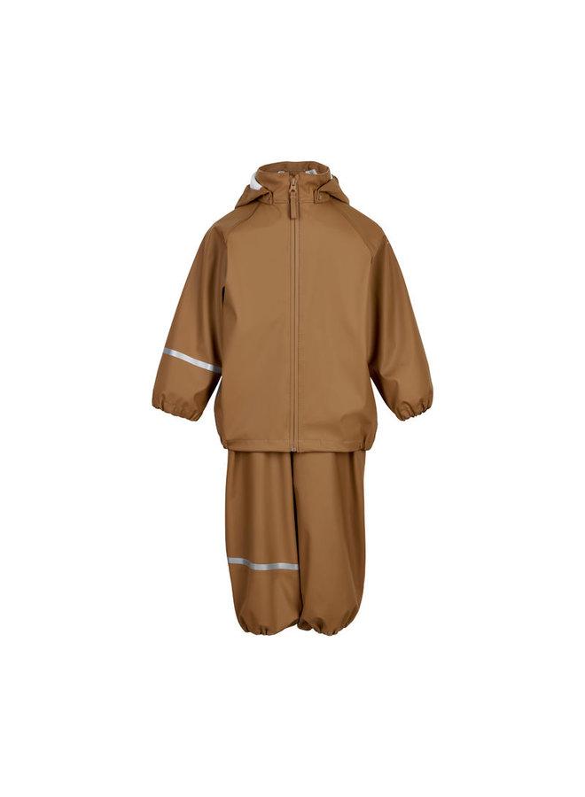 Regenpak voor kinderen: broek en jas gemaakt van gerecycled materiaal