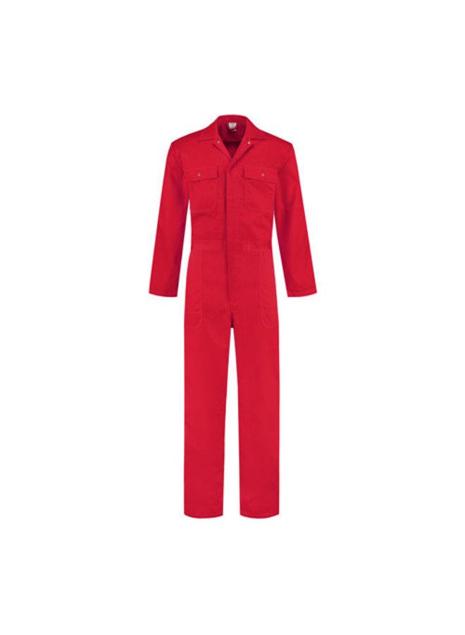 Rode overall voor dames en heren