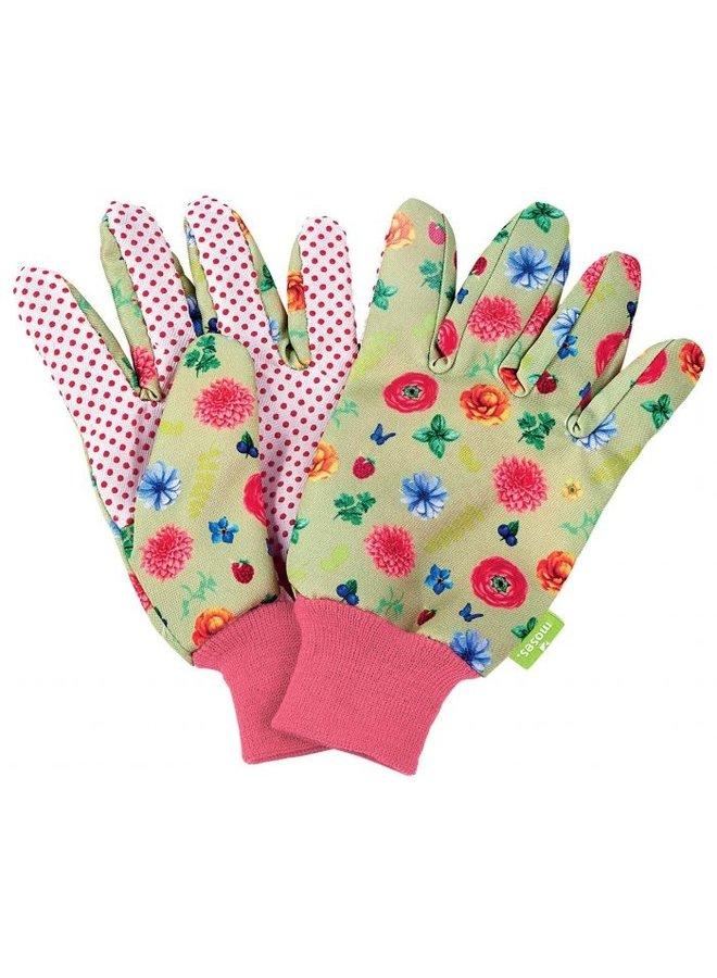 Garden gloves for children with flowers