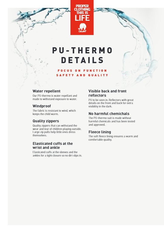 uitleg waterafstotende laag celavi thermo pakken