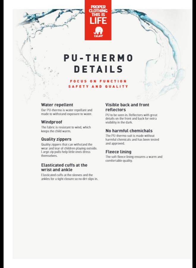 Thermo buitenpak- jas en broek waterafstotend