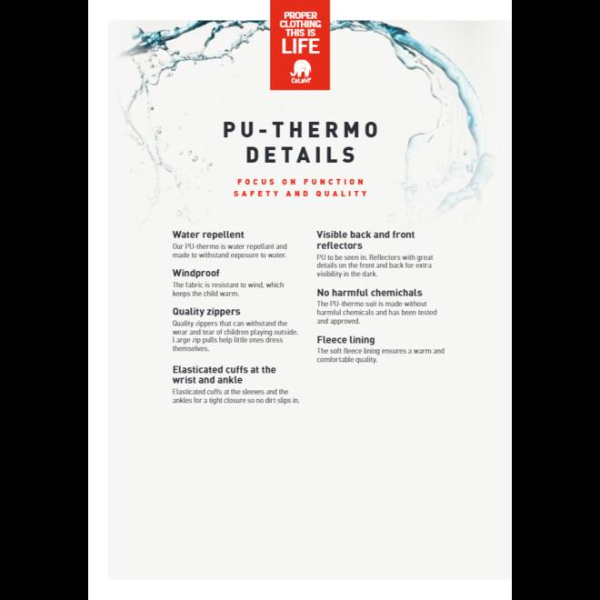 Waterafstotende thermo kinderoverall- grijs