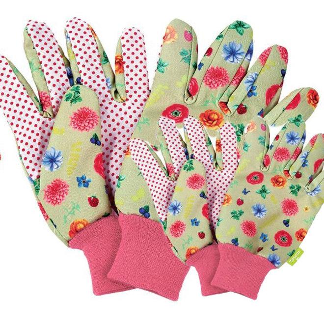 Twinning garden gloves set child + adult