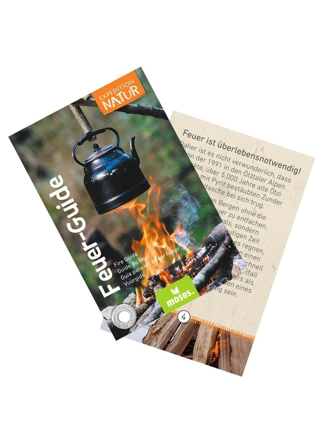 Fire starter for children with learning cord