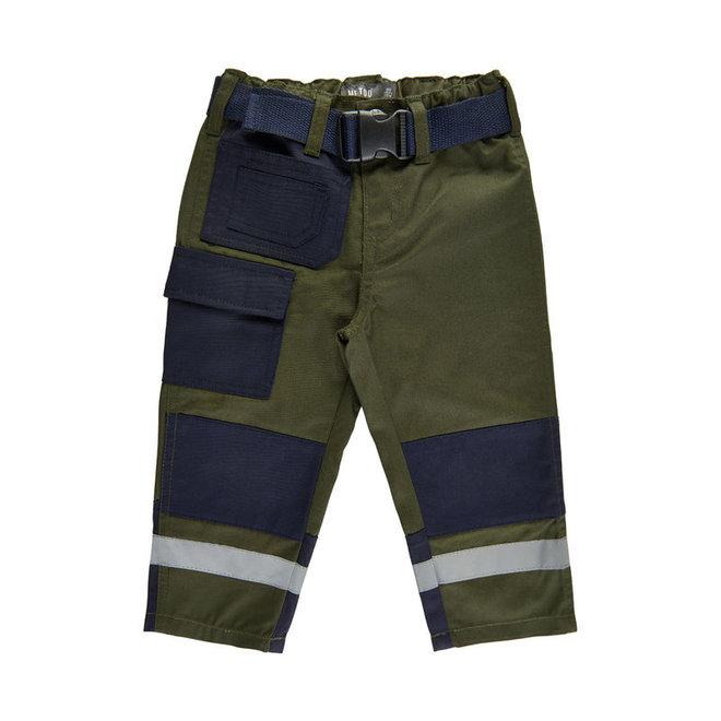 groene kinder werkbroek met zakken en kniestukken