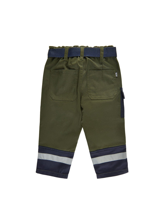 green children's work trousers with pockets and knees