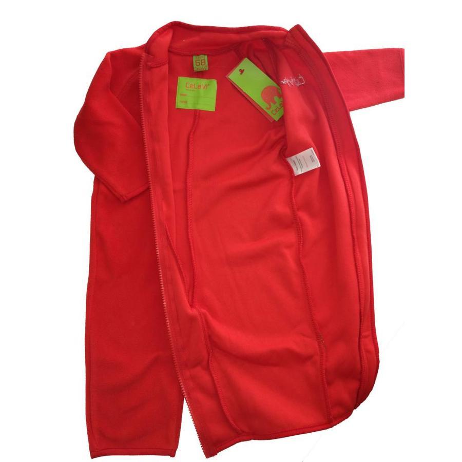 Fleece suit navy, red overalls-3