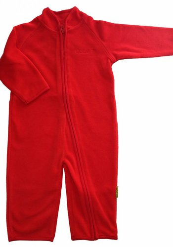 CeLaVi Fleece suit onesie, red jumpsuit