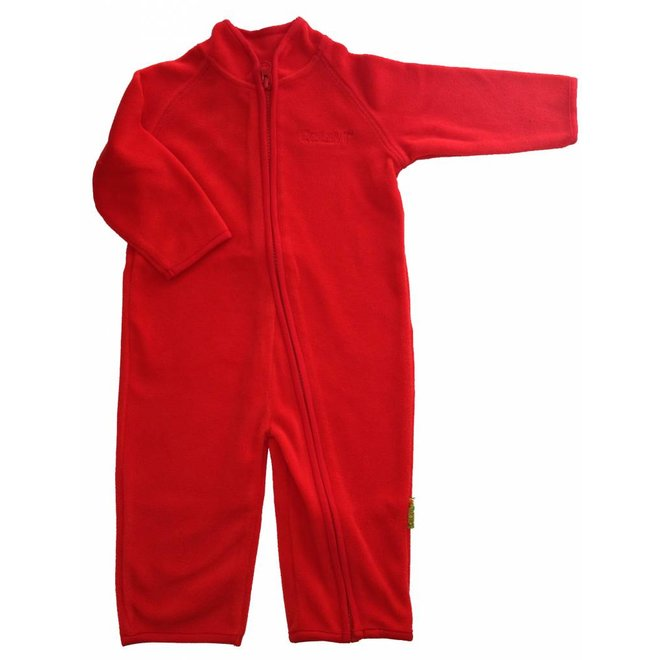 Fleece suit onesie, jumpsuit red | 68-104