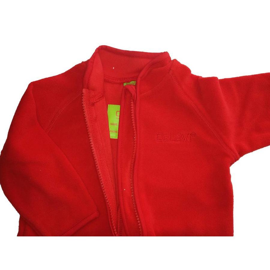 Fleece suit navy, red overalls-4