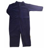 thumb-Fleece suit navy blue overalls-2