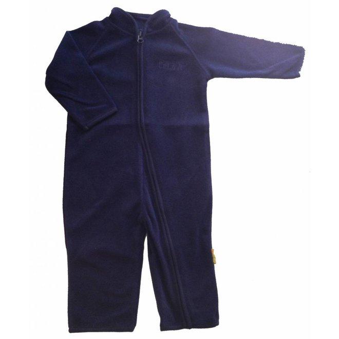 Fleece pak, overall in navy blauw  68-104