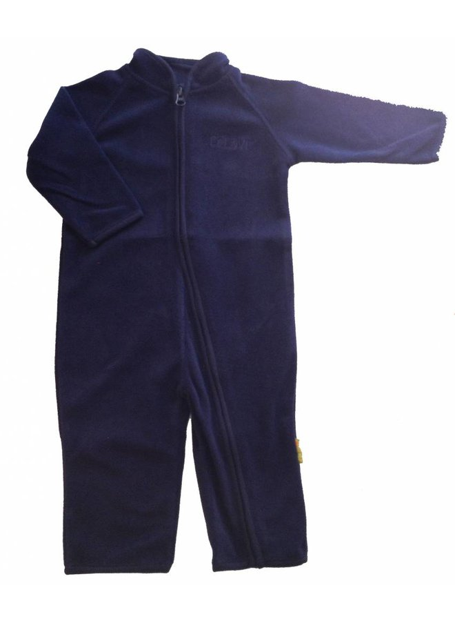 Fleece suit, overall in navy blue | 68-104