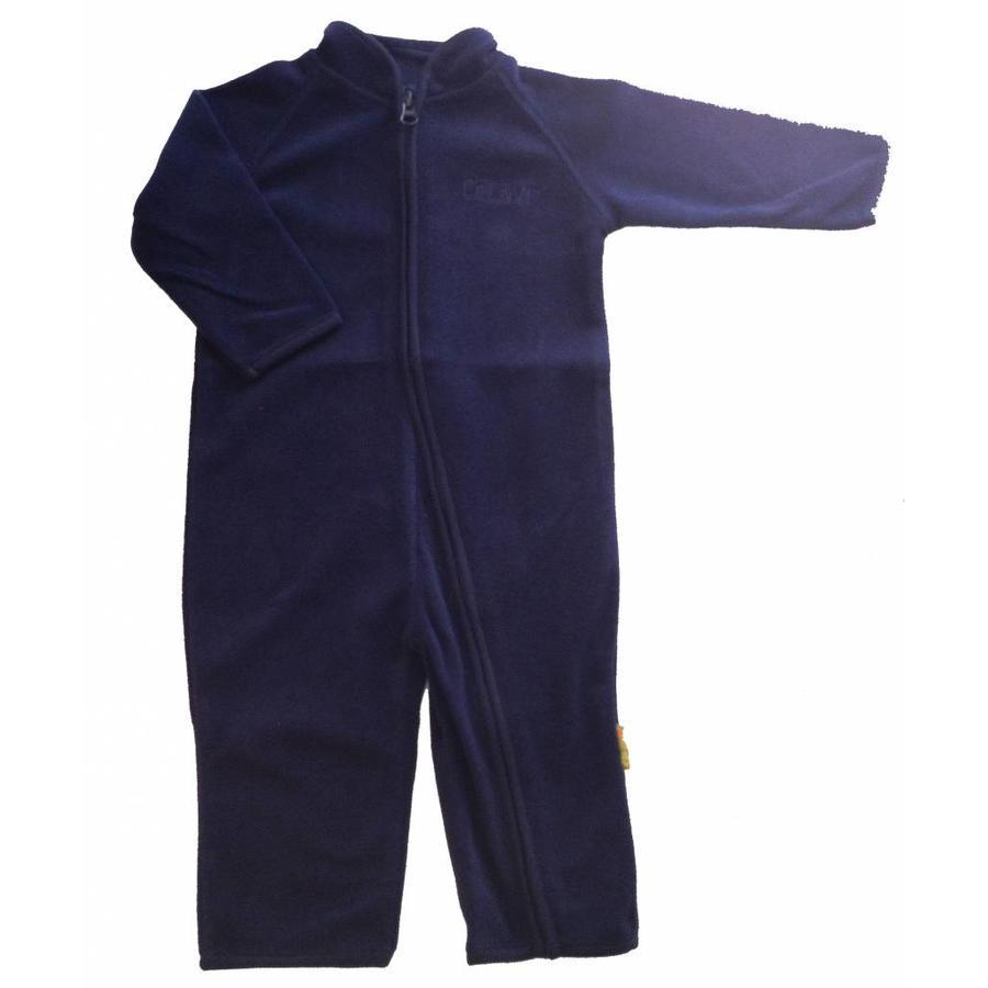 Fleece suit navy blue overalls-2