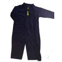 thumb-Fleece suit navy blue overalls-3