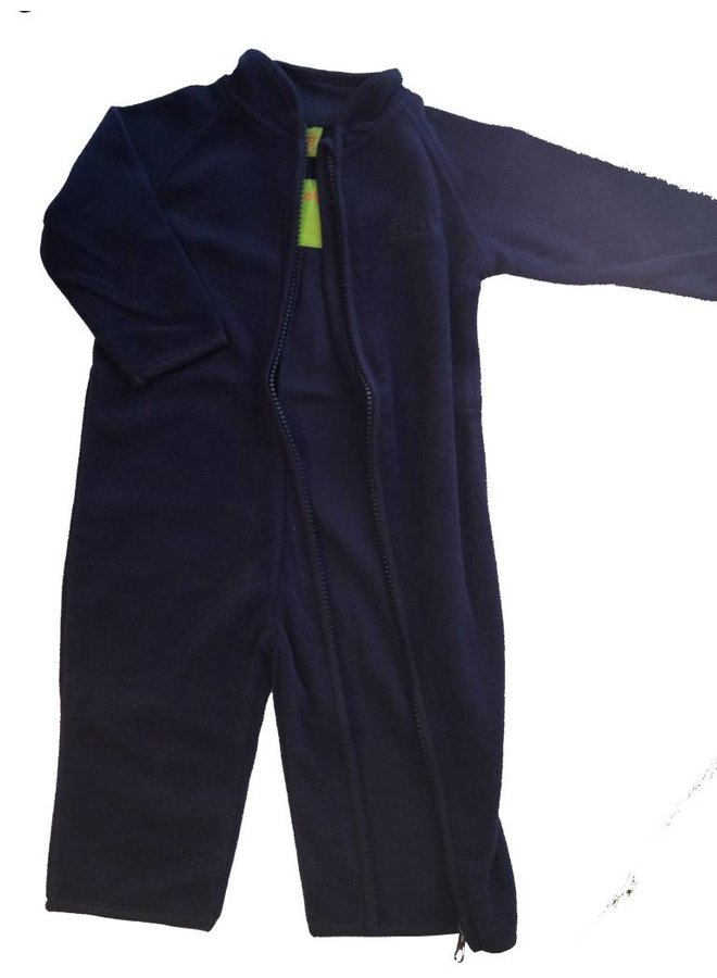 Fleece pak, overall in navy blauw| 68-104