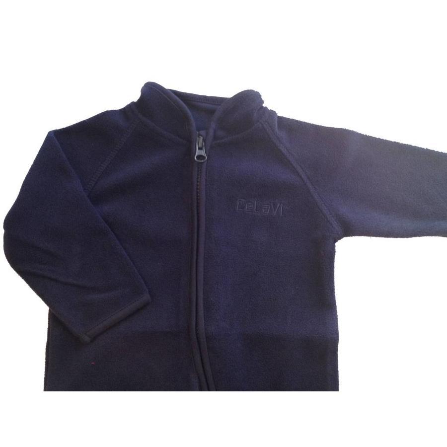 Fleece suit navy blue overalls-4