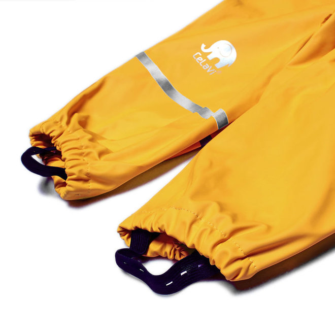 Children's rain pants with suspenders | Mineral Yellow | 70-100