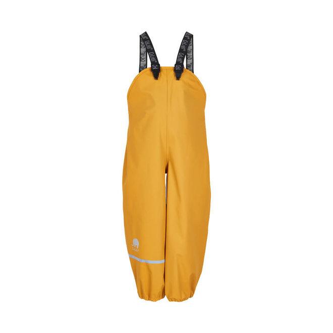 Kinderregenbroek met bretels | 70-100 | Mineral yellow