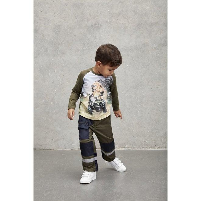 Children's work trousers - dark green