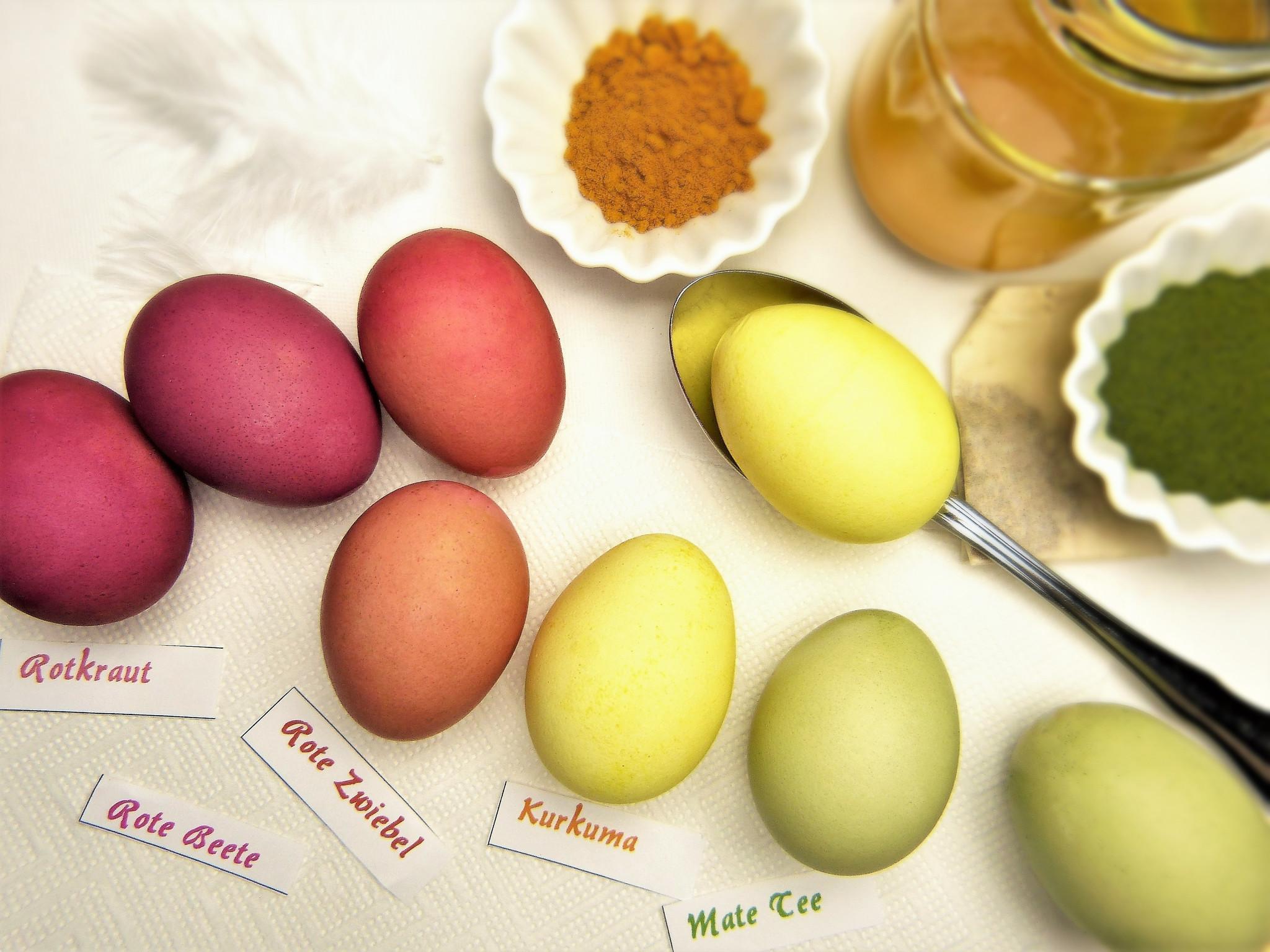 natuurlijke eierverf maken