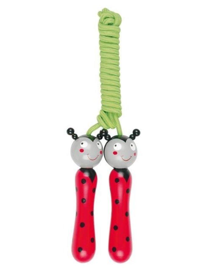 Children's jump rope ladybugs