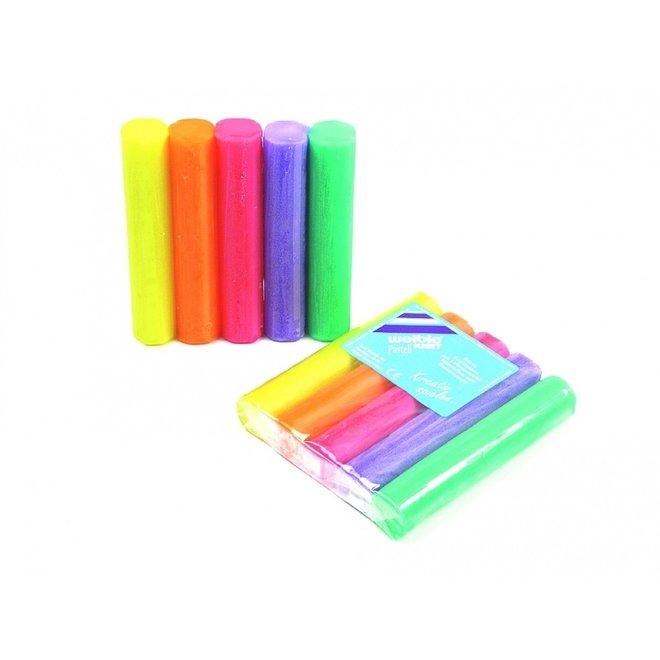 Natuurlijke klei | 5 rollen| pastel kleuren