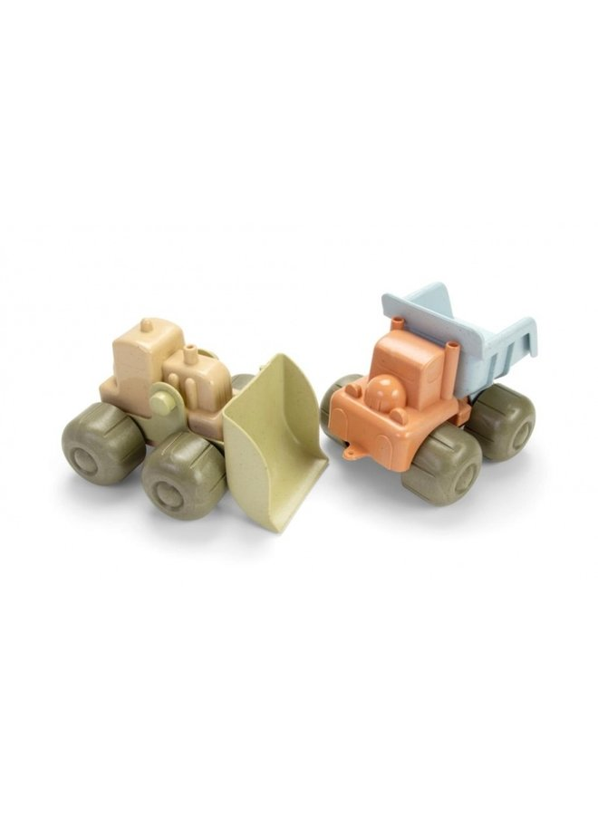 Bulldozer en dumptruck| Bio plastic