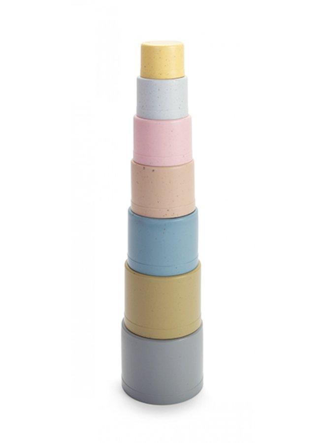 7-piece bioplastic stacking tower