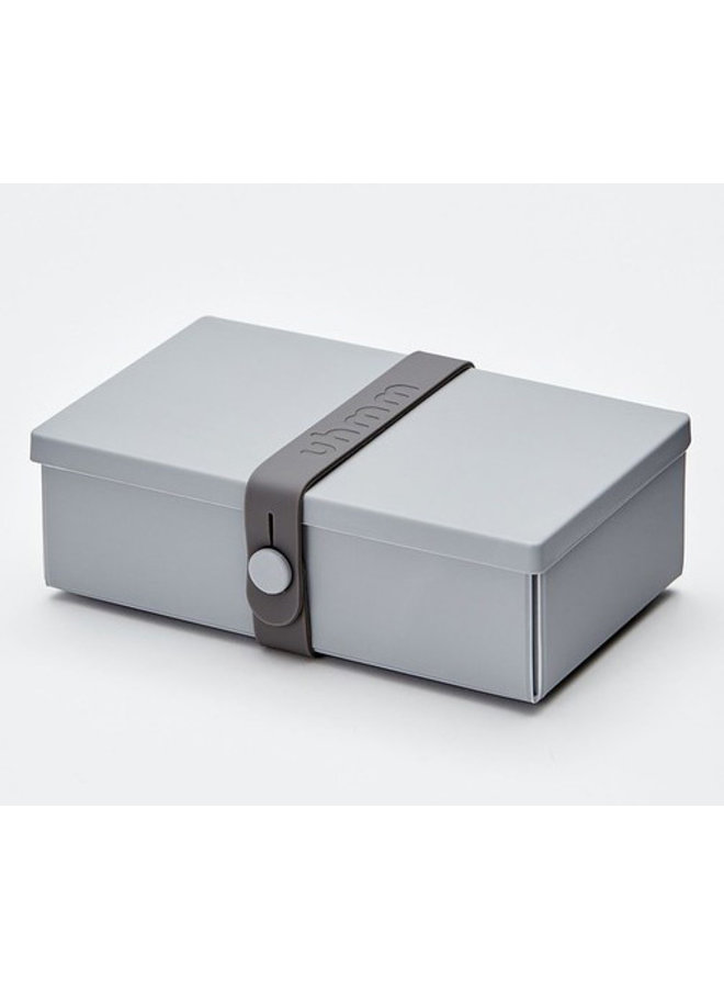 Light Gray Uhmm Box | lunch box | lunch box
