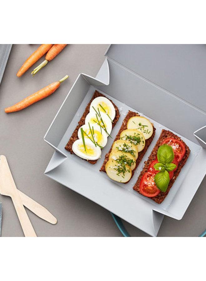 Lichtgrijze Uhmm Box | lunchbox | broodtrommel