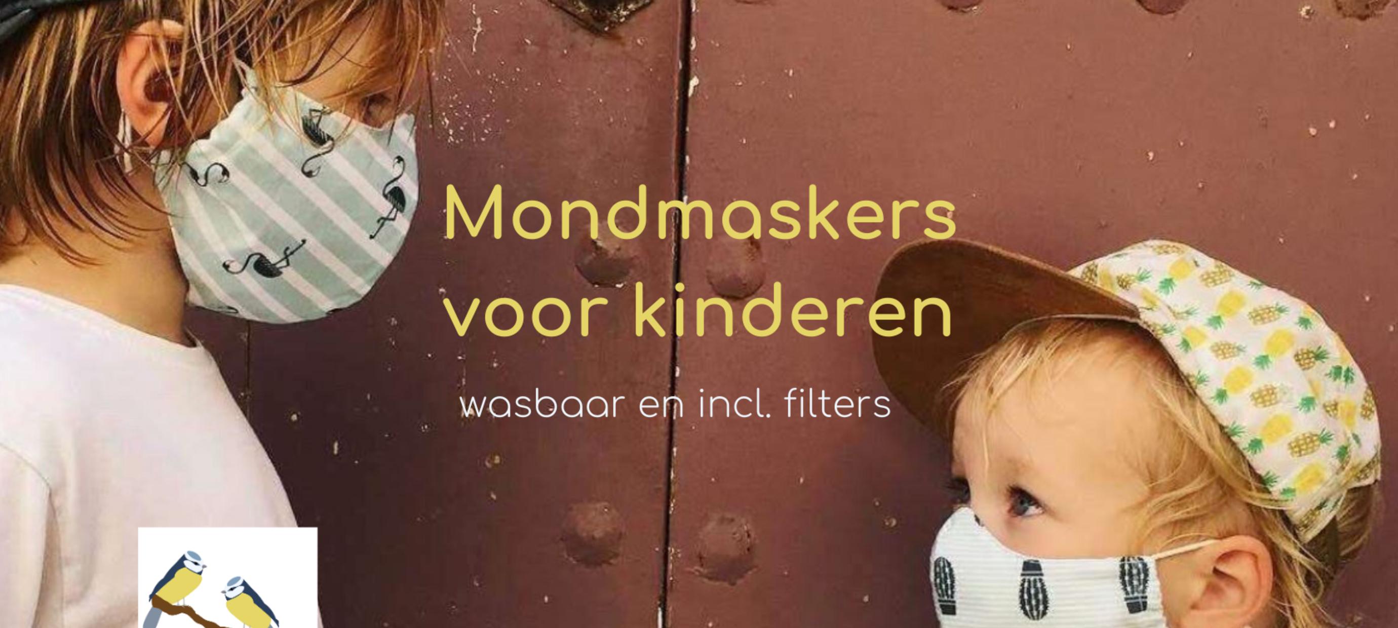 Mondmaskers voor kinderen | wasbaar en met filter