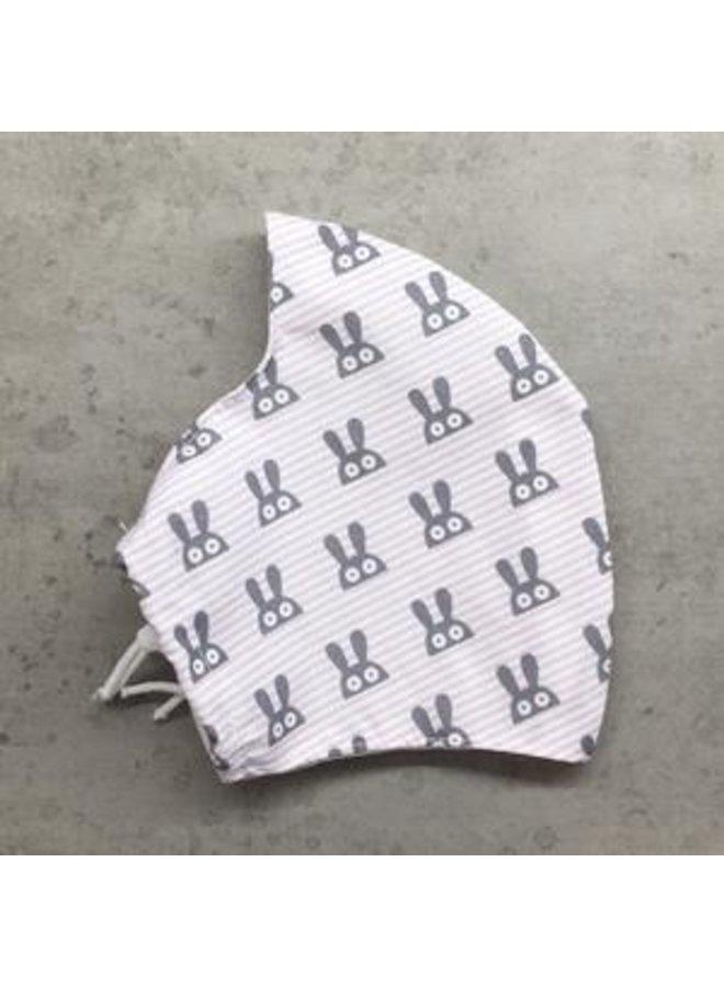 Herbruikbaar mondkapje met filter | Rabbit| kinderen & volwassenen