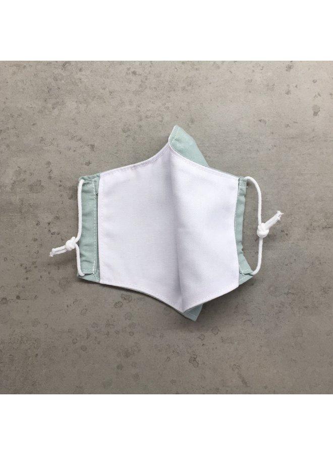 Herbruikbaar mondkapje met filter   Mint  kinderen & volwassenen
