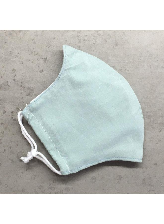 Herbruikbaar mondkapje met filter | Mint| kinderen & volwassenen