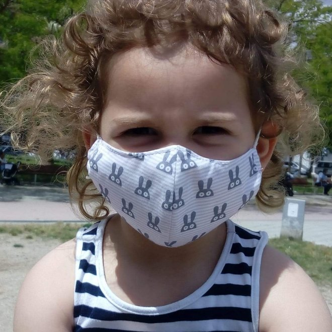 Reusable mouth mask with filter | Rabbit | children & adults