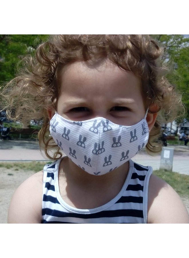 Reusable mouth mask with filter   Rabbit   children & adults