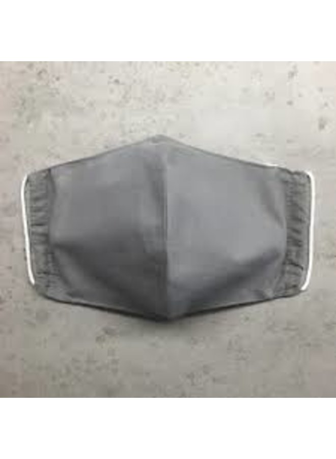 Reusable mouth mask with filter Gray