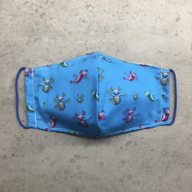 Reusable mouth mask with filter Aqua Dragons
