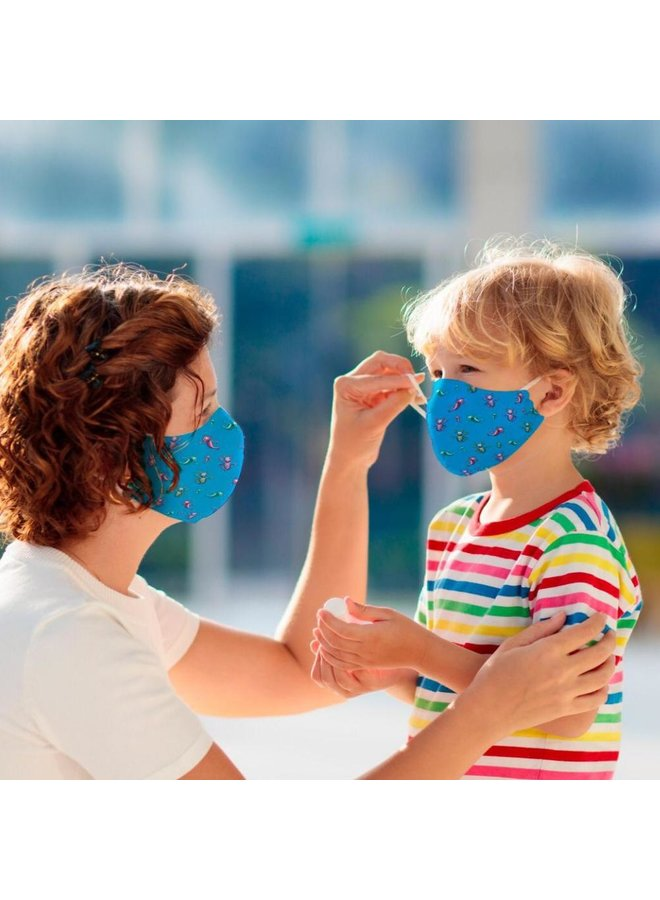 Reusable face mask with filter | Aqua Dragons | children & adults