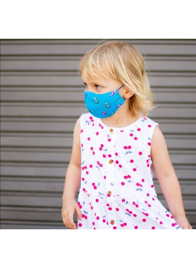 Reusable face mask with filter   Aqua Dragons   children & adults