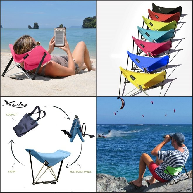 Y-PLY | multifunctioneel strandstoeltje | opvouwbaar