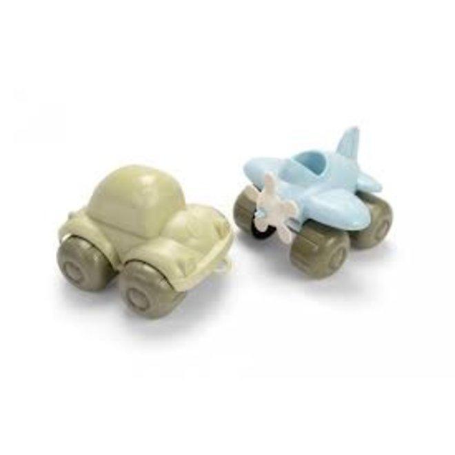 Bioplastic sandbox set airplane & car