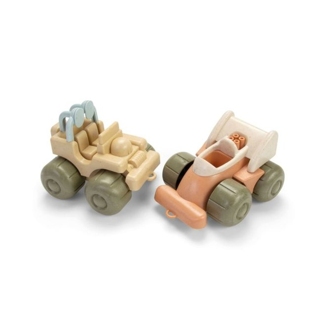 Bioplastic sandbox set buggy & racing car