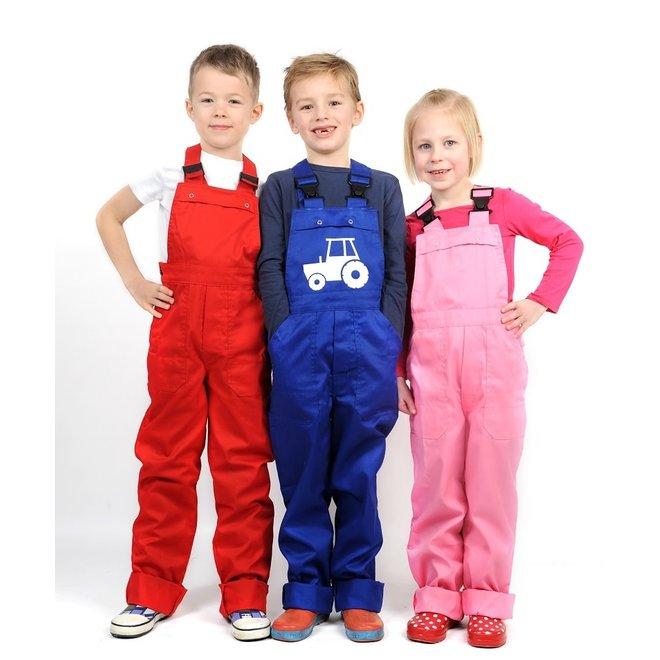 Kinder tuinbroek, tuinoverall diverse kleuren