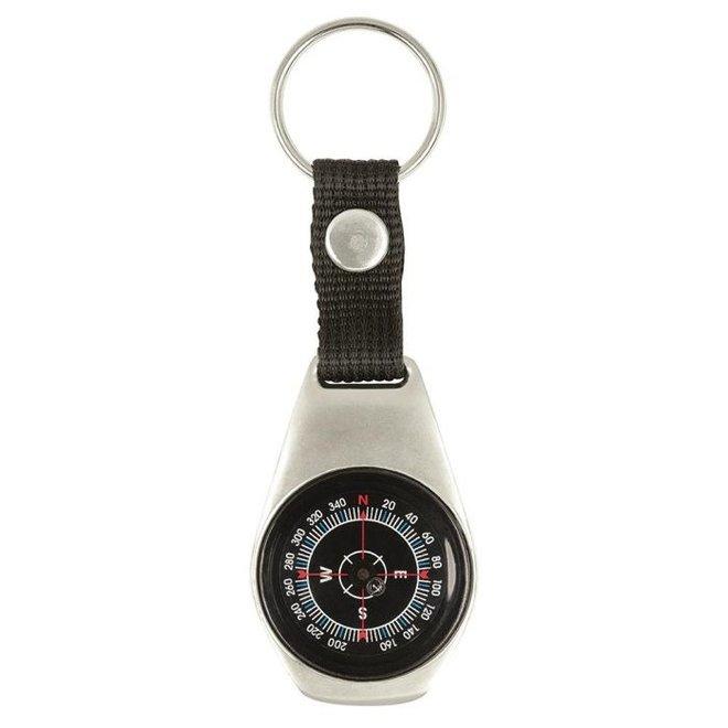 Metal pocket compass for children on key ring