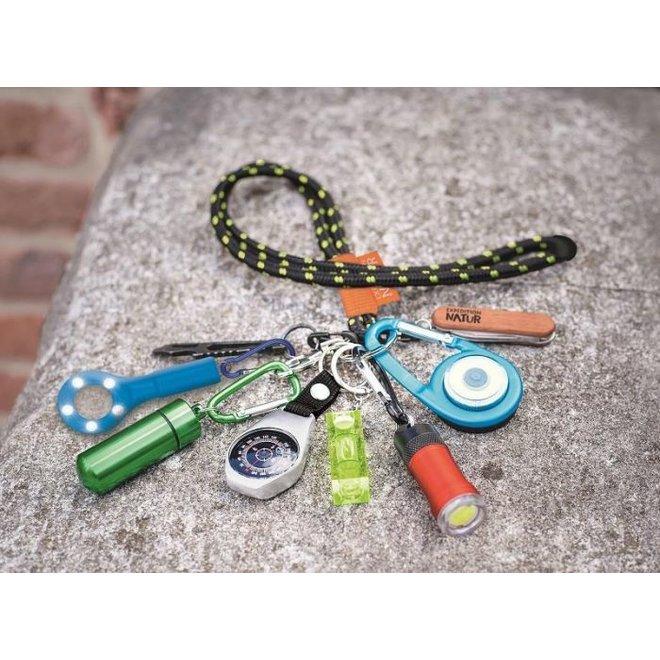 Neck strap for keys with carabiner