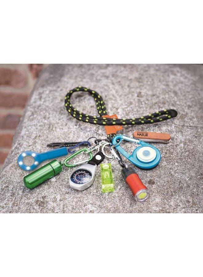 Lanyard with key ring and carabiner